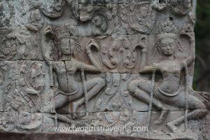 Bayon's many faces Apsara