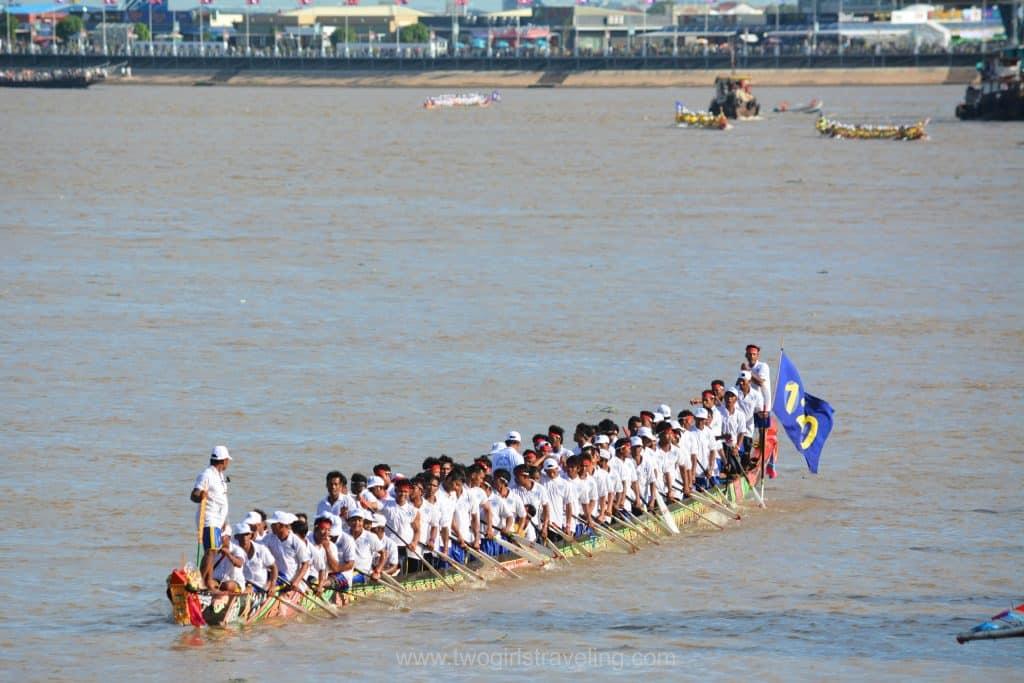 Water Festival Phnom Penh White Boat
